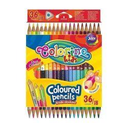 Двусторонние цветные карандаши, 18 шт. / 36 цветов COLORINO KIDS