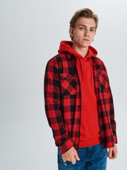 Рубашка CROPP Красный в клетку