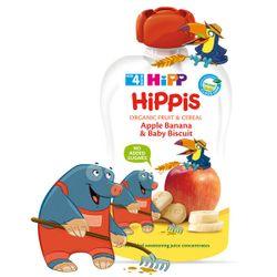 Пюре из яблок и бананов с печеньем Hippis (4+ мес.), 100 г