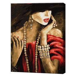 Necunoscuta rafinată, 40х50 cm, pictură pe numere Articol: GX28719