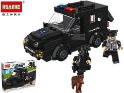 Конструктор HSANHE Полицейский джип 27,5X19.5X4.5cm,180дет.