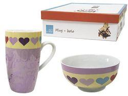 Набор чашка и салатник Tognana Milk&Coffee, в подар. упаков.