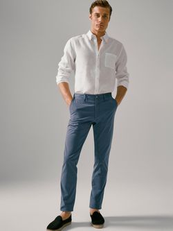Pantaloni Massimo Dutti Albastru intens 0011/112/820