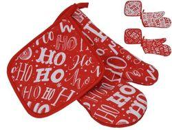 Набор рождественский, прихватк 2ед, полиэстер, 2 цвета