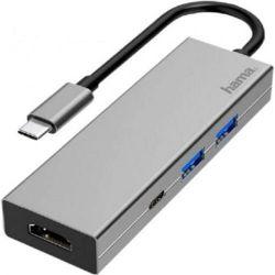 cumpără Adaptor IT Hama 200107 USB-C Multiport Adapter, 4 Ports, 2 x USB-A, USB-C, HDMI™ în Chișinău