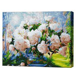 Buchet de bujori în grădina, 40х50 cm, pictură pe numere Articol: GX29949