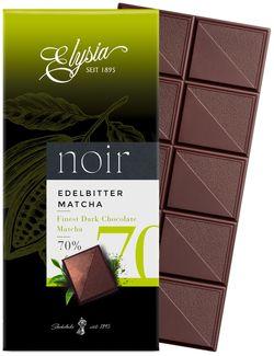 Темный шоколад с чаем матча Elysia 70% 1895 100г