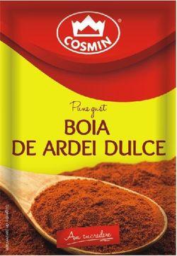 Boia de ardei dulce Cosmin 17g