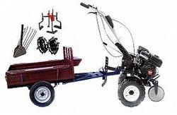 Набор мотоблок TECHNOWORKER HB 700S+Прицеп RK500 + плуг картофель + металлические колеса 4*8 + мотыга