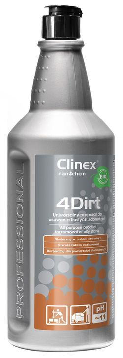 Clinex 4Dirt 1л для удаления жирной грязи