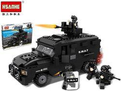 Конструктор HSANHE Машина спецназ 423дет. 40X29.5X6cm