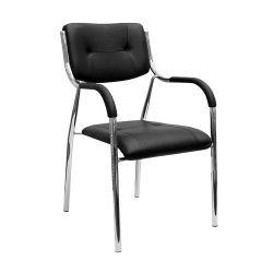 Scaun cu braţ, negru