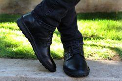 Pantofi negri ortopedici barbatesti