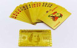 Carti de joc auriu (54 buc., 0.28 mm) Dollar Gold 100 IG-4566 (3831)