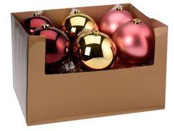 Glob pentru brad 150mm mat, lucios, bordo, roz-deschis. Auriu