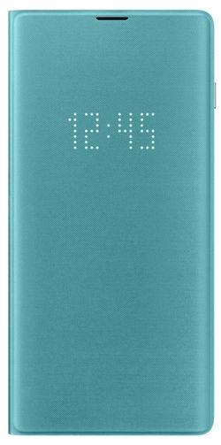 cumpără Husă telefon Samsung EF-NG975 LED View Cover S10+ Green în Chișinău