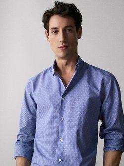 Рубашка Massimo Dutti Синий 0153/053/400