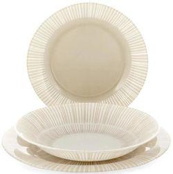 купить Набор посуды Bormioli Rocco 41305 Набор тарелок Stria Beige 18ед в Кишинёве