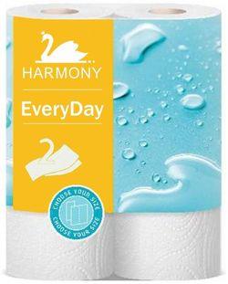 Полотенца бумажные Harmony EveryDay 2 слоя 11м*2