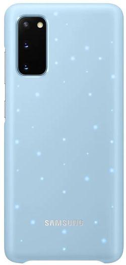 купить Чехол для моб.устройства Samsung EF-KG980 LED Cover Sky Blue в Кишинёве