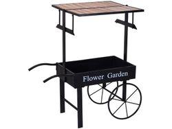 Барный стол на колесах 108X103X60cm, металл, черный