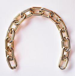 Lanț acrilic, 38 cm / auriu
