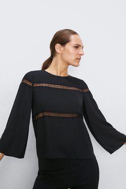 Блуза ZARA Чёрный zara 8204/379/800