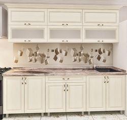 Кухонный гарнитур Bafimob Modern MDF 2.2m glass Beige