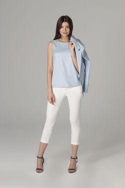Jachetă și bluză albastră