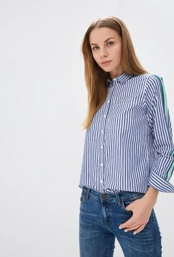 Блуза SPRINGFIELD Белый в полоску