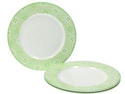 Farfurie adinca 22cm Ambra, verde, din ceramica