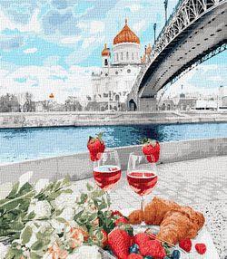 Картина по номерам 40x50 Романтический пикник 03586