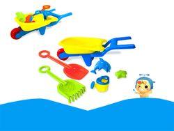 Набор игрушек для песка в тележке, 6 ед, 62X18cm