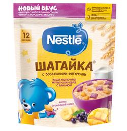 Каша мультизлак банан-сок манго/черн смородина с  молоком Nestle Шагайка, с 12 месяцев, 190г