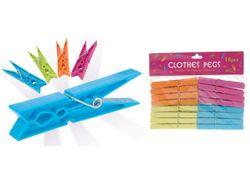 Set cleste pentru haine 16buc, plastic, multicolore