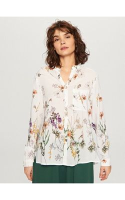 Bluza RESERVED Alb cu imprimeu floral ti739-00x