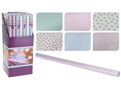 Бумага оберточная для подарков, H70cm, L5m, бумага, 6 дизайн