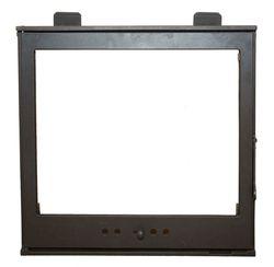 Дверца чугунная со стеклом Weekend - L5 с рамой и грилем