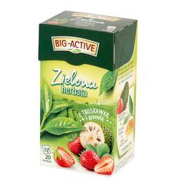 Чай зеленый Big Active Strawberry with Graviola, 20 шт