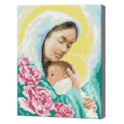 Мать и ребенок, 30x40 см, алмазная мозаика QS200374