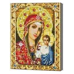 Икона Божией Матери, 30x40 см, алмазная мозаика QS200706