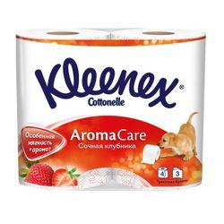 Hârtie igienică Kleenex Strawberry, 4 role, 3 straturi