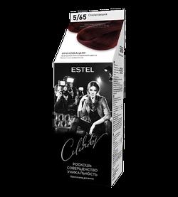 Краска для волос, ESTEL Celebrity, 125 мл., 5/65  - Слепая вишня