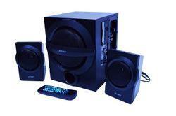 Sistem audio, FENDA, 2x12W+13W, USB, Bluetooth/FM radio, 220-240V, Telecomandă, Negru