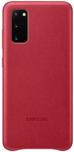 купить Чехол для моб.устройства Samsung EF-VG980 Leather Cover Red в Кишинёве