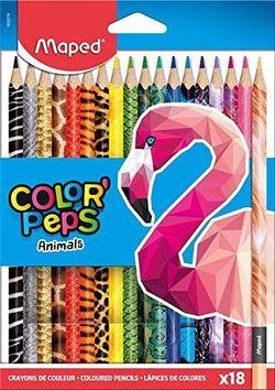 Карандаши цветные MAPED Animals, 18 цветов