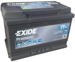 exide premium 12v 77ah 760en 278x175x190 -/+