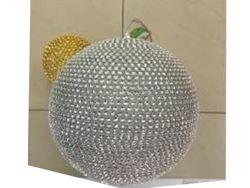 Glob pentru brad din margele 200mm, auriu