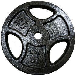 Диск металлический 10 кг d=30 мм (5702)