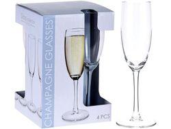 Набор бокалов для шампанского Vinissimo 4шт, 180ml, H20.5сm